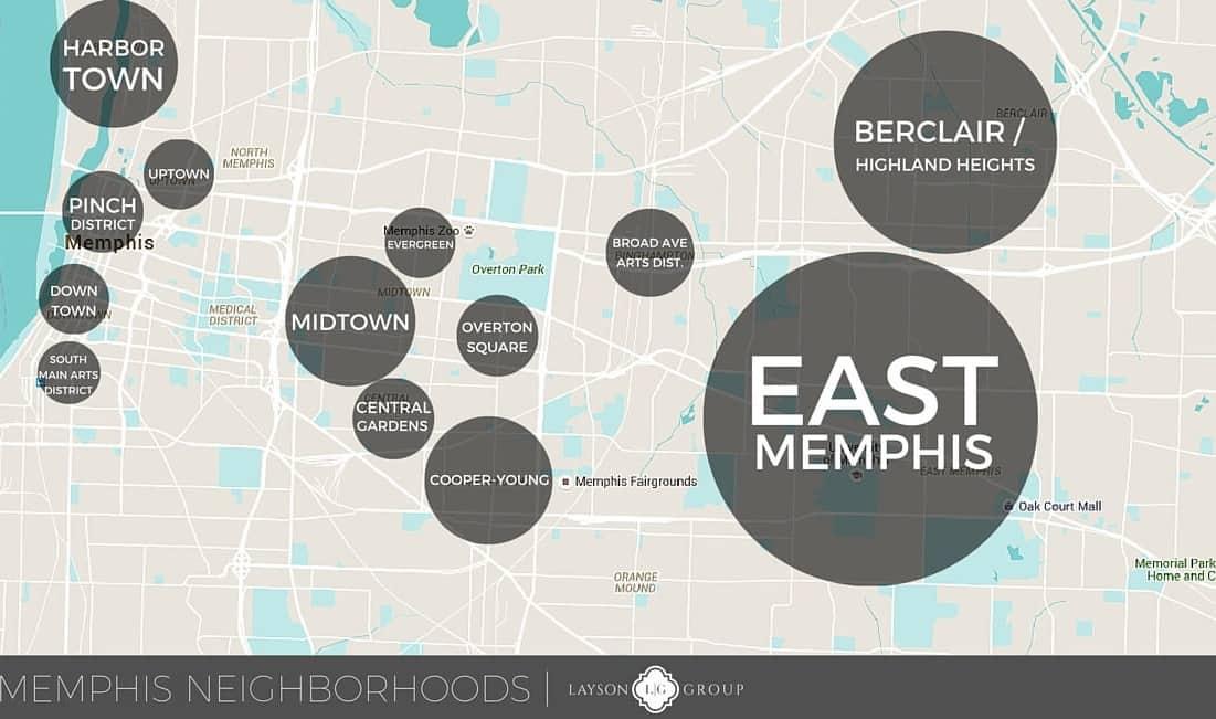 memphis neighborhood map